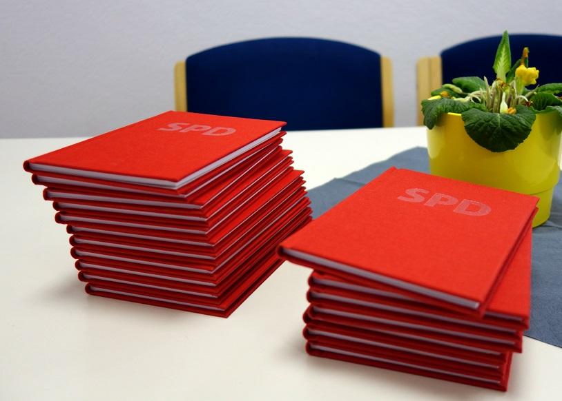 Parteibuch, Neumitglieder, SPD